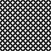 Black and White Interconnected Circles Tiles Pattern Repeat Back — Stock Photo