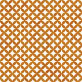 Orange and White Interconnected Circles Tiles Pattern Repeat Bac — Stock Photo