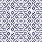 Navy Blue and White Star of David Repeat Pattern Background — Stockfoto