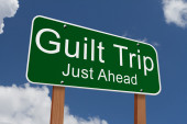 Guilt Trip Just Ahead Sign — Stock Photo