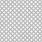 Gray and White Interconnected Circles Tiles Pattern Repeat Backg — Stock Photo