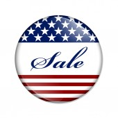 Sale USA Button — Stock Photo