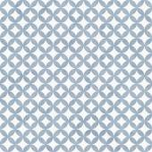 Blue and White Interconnected Circles Tiles Pattern Repeat Backg — Stock Photo