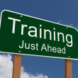 Training Just Ahead Sign — Stock Photo #59750559