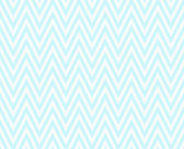 Teal and White Zigzag Textured Fabric Repeat Pattern Background  — Stock Photo