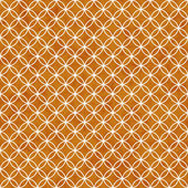 Orange and White Interlocking Circles Tiles Pattern Repeat Backg — Stock Photo