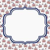 Marijuana Leaves Frame with Embroidery Background — Stock Photo