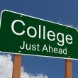 College Just Ahead Sign — Stock Photo #59871297