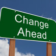 Change Ahead Sign — Stock Photo #60336839