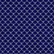 Navy and White Shells with Interlocking Circles Tiles Pattern Re — Stock Photo #60336917