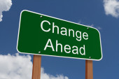 Change Ahead Sign — Stock Photo