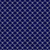 Navy and White Shells with Interlocking Circles Tiles Pattern Re — Stock Photo