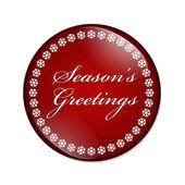 Season's Greetings Button — Stock Photo