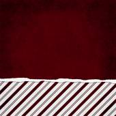 Square Red and White Candy Cane Stripe Torn Grunge Textured Back — Stock Photo