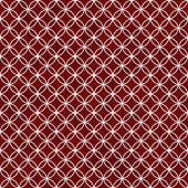 Red and White Interlocking Circles Tiles Pattern Repeat Backgrou — Stock Photo