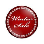 Winter Sale Button — Stock Photo