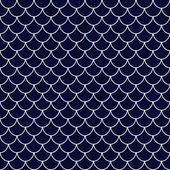 Navy and White Shell Tiles Pattern Repeat Background — Stock Photo