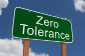 Zero Tolerance Sign — Stock Photo