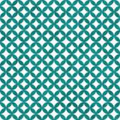 Teal and White Interconnected Circles Tiles Pattern Repeat Backg — Stock Photo