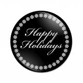 Happy Holidays Button — Stock Photo