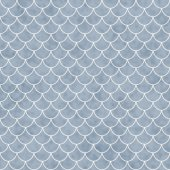 Blue and White Shell Tiles Pattern Repeat Background — Stock Photo