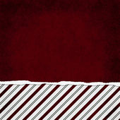 Square Red, Green and White Candy Cane Stripe Torn Grunge Textur — Stock Photo