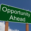 Opportunity Ahead Sign — Stock Photo #61415901