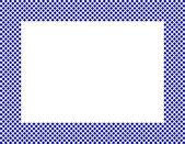 Marco de corazones azules y blancas — Foto de Stock