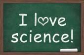 Ik hou van wetenschap — Stockfoto