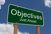 Objectives Just Ahead Sign — Stock Photo