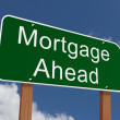 Mortgage Ahead Sign — Stock Photo #61867549