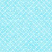 Teal and White Shells with Interlocking Circles Tiles Pattern Re — Stock Photo
