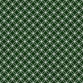 Green and White Interlocking Circles Tiles Pattern Repeat Backgr — Stock Photo