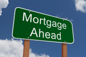 Mortgage Ahead Sign — Stock Photo