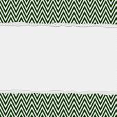 Green and White Torn Chevron Frame Background — Stock Photo