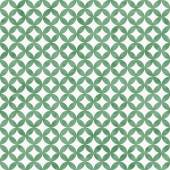 Green and White Interconnected Circles Tiles Pattern Repeat Back — Stock Photo