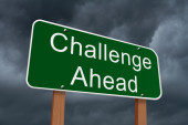 Challenge Ahead Sign — Stock Photo