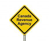 Canada Revenue Agency Warning Sign — Stock Photo