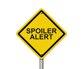Spoiler Alert Warning Sign — Stock Photo