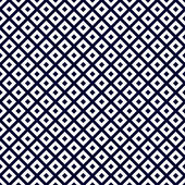 Navy Blue and White Diagonal Squares Tiles Pattern Repeat Backgr — Stock Photo