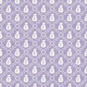 Purple and White Money Bag Repeat Pattern Background — Stock Photo