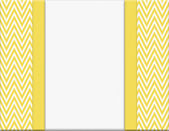 Yellow and White Chevron Zigzag Frame with Ribbon Background — Stock Photo