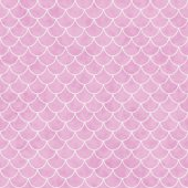 Pink and White Shell Tiles Pattern Repeat Background — Stock Photo