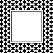 Black and White Hexagon Background with Frame — Stock Photo