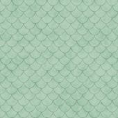 Green Shell Tiles Pattern Repeat Background — Stock Photo