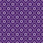 Purple and White Star of David Repeat Pattern Background — Stock Photo
