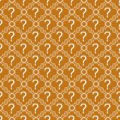 Orange and White Question Mark Symbol Pattern Repeat Background — Stock Photo #63579799