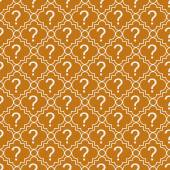Orange and White Question Mark Symbol Pattern Repeat Background — Stock Photo
