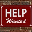 Help Wanted Sign — Stock Photo #64610433