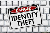 Identity Theft Danger Sign — Stock Photo